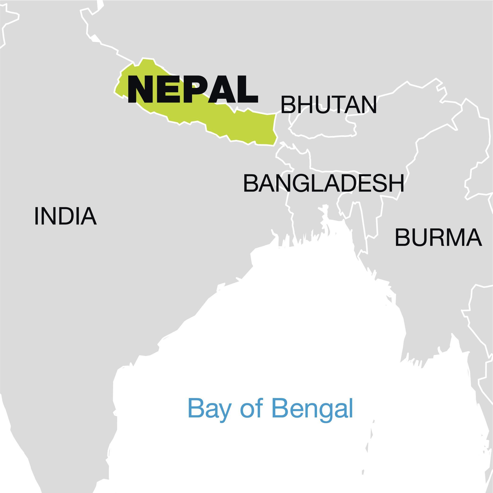 Nepal Wereld Kaart Kaart Van De Wereld Zien Nepal Zuid Azie Azie
