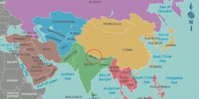 Nepal Kaart Kaarten Nepal Zuid Azie Azie